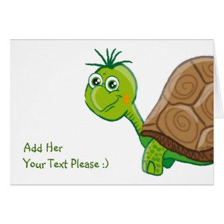 Cute Tortoise kids greeting card