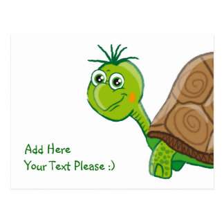 Cute Tortoise - kids postcard