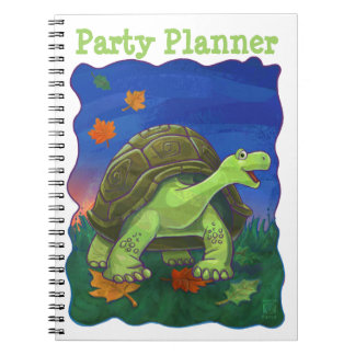 Cute Tortoise Party Planner Notebook