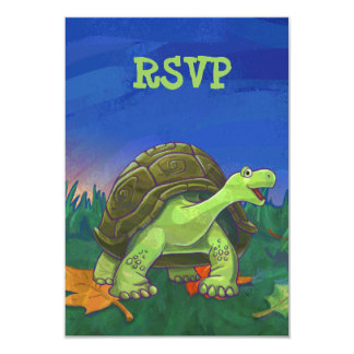 Cute Tortoise Party RSVP Card
