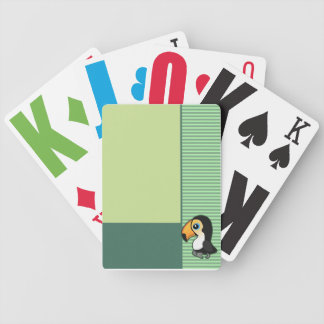 Cute Toucan Green Cards Bicycle Playing Cards