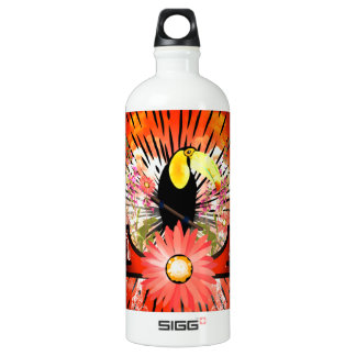 Cute toucan sitting on a branch SIGG traveler 1.0L water bottle