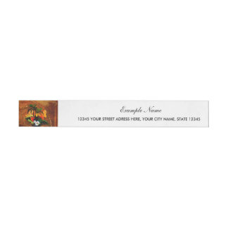 Cute toucan with flowers wrap around address label