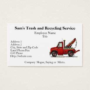 Tow truck business cards templates zazzle cute tow truck wrecker business card colourmoves Gallery