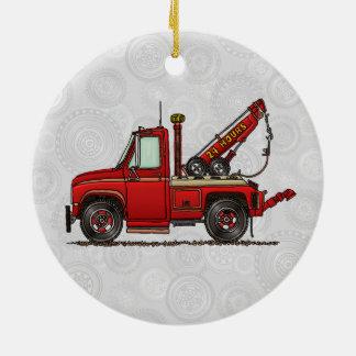 Cute Tow Truck Wrecker Ceramic Ornament
