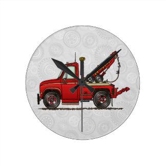 Cute Tow Truck Wrecker Round Clock