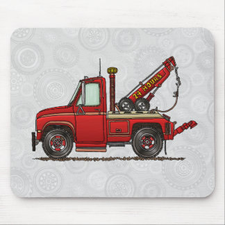 Cute Tow Truck Wrecker Mouse Pad