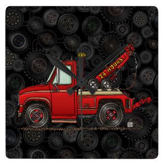 Cute Tow Truck Wrecker Square Wall Clock