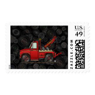 Cute Tow Truck Wrecker Stamp