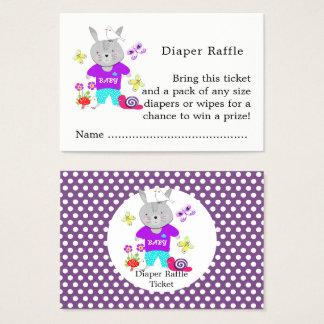 Cute Toy Baby Bunny Rabbit Diaper Raffle Ticket