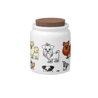 Cute Toy Dog Breed Pattern Candy Jar