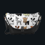 "Cute Toy Dog Breed Pattern Courier Bag<br><div class=""desc"">Cute Toy Dog Breed Pattern</div>"