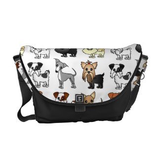 Cute Toy Dog Breed Pattern Courier Bag
