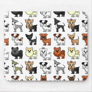 Cute Toy Dog Breed Pattern Mouse Pad