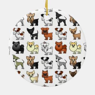 Cute Toy Dog Breed Pattern Ornament