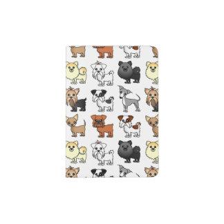 Cute Toy Dog Breed Pattern Passport Holder