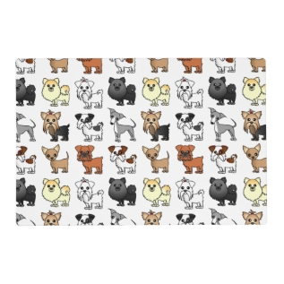 Cute Toy Dog Breed Pattern Placemat at Zazzle