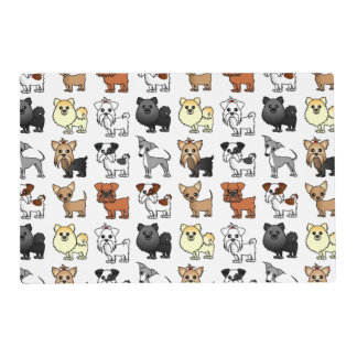 Cute Toy Dog Breed Pattern Placemat