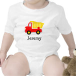 Cute toy dump truck cartoon baby jumpsuit for boys rompers