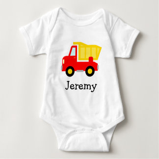 Cute toy dump truck cartoon baby jumpsuit for boys t-shirts