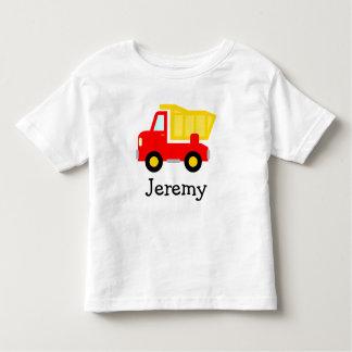 Cute toy dump truck cartoon t shirt for little boy