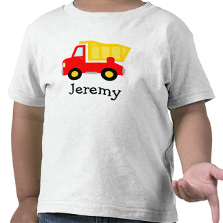 Cute toy dump truck cartoon t shirt for little boy