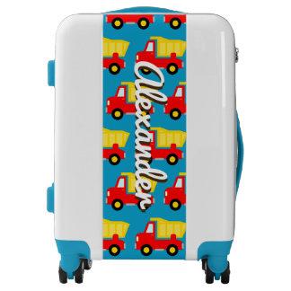 Cute toy dump truck custom luggage kid's suitcase