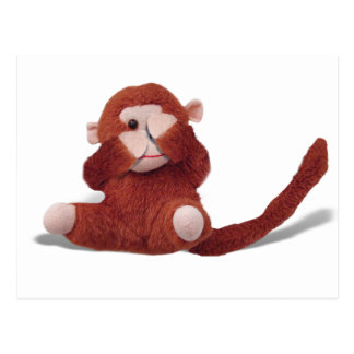 Cute Toy Monkey - See No Evil Postcard
