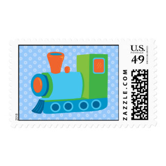 Cute Toy Train Postage Stamps