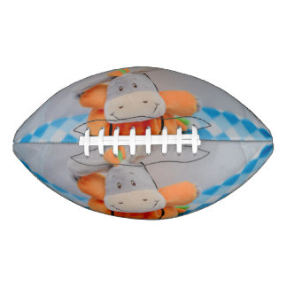 Cute toy with a red bowtie football