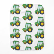Cute Tractor Pattern Baby Burp Cloth