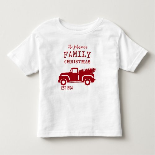 Cute Traditional Family Christmas Toddler T_shirt