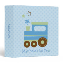Cute Train Baby Photo Binder