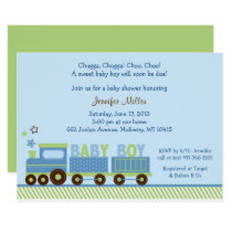 Cute Train Baby Shower Card