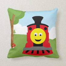 Cute train pillows
