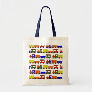 Cute Train Print Tote Bag