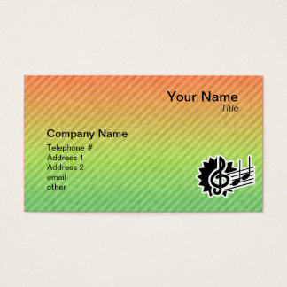Cute Treble Clef Business Card