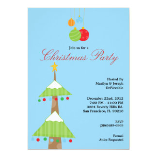 CUTE Tree Christmas Party Holiday Invite