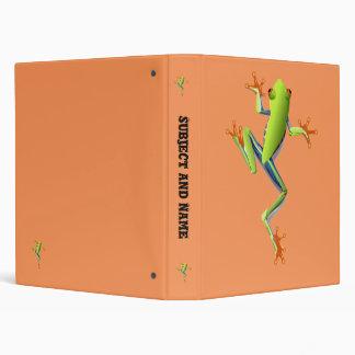 Cute Tree Frog 3 Ring Binder