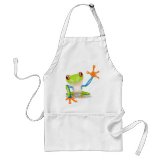 Cute Tree Frog Adult Apron