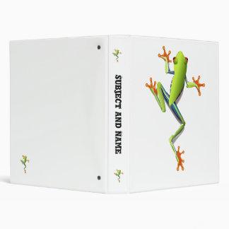 Cute Tree Frog Binder
