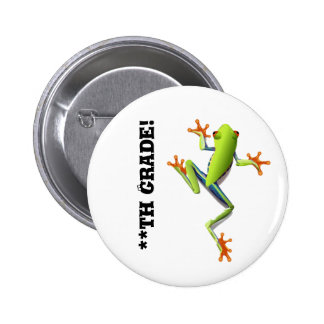 Cute Tree Frog 2 Inch Round Button