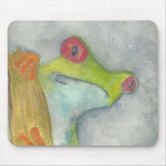 Cute Tree Frog Mouse Pad