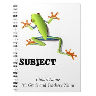 Cute Tree Frog Notebook