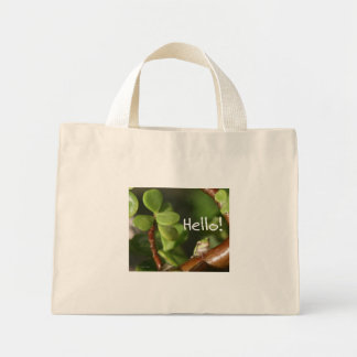 Cute tree frog says hello! Amphibian style! Canvas Bags