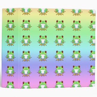 Cute Tree Frogs School / Photo Rainbow Binder
