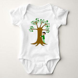 Cute Tree Hugger Design Baby Bodysuit