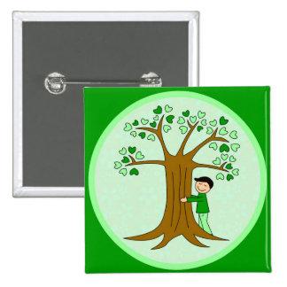 Cute Tree Hugger Design Buttons