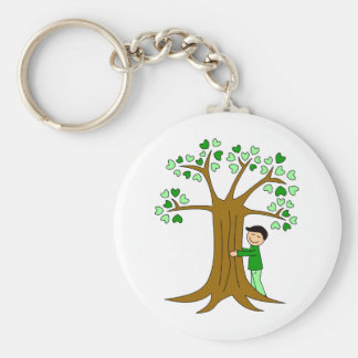 Cute Tree Hugger Design Keychain