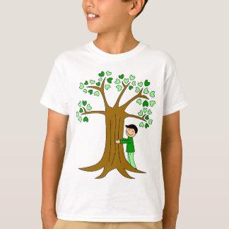 Cute Tree Hugger Design T-Shirt